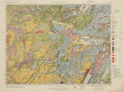 Inverness geological survey sheet 83 Scottish Highlands Beauly Firth 1954 map
