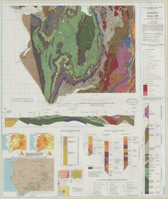 Harlech geological survey sheets 135 & 149 Snowdonia Barmouth 1974 old map