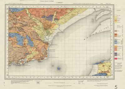 Cardiff geological survey sheet 263 Severn Estuary Wick St Lawrence 1967 map