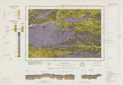 Tunbridge Wells geological survey sheet 303 High Weald East Grinstead 1971 map