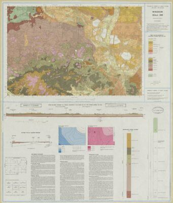 Windsor geological survey sheet 269 Slough Eton LHR Chertsey Weybridge 1981 map