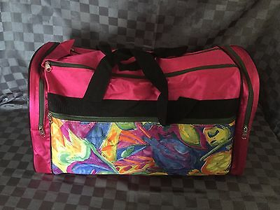 Hot Pink Duffle Dancing Gym Sport Travel Overnight Tote Carry On School Camp Bag