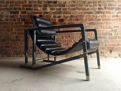 Stunning Eileen Gray Transat Lounge Chair Armchair Aram Leather Mid Century