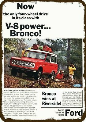 1973 FORD BRONCO 4X4 AUTOMATIC SUV TRUCK Vintage Look REPLICA METAL SIGN