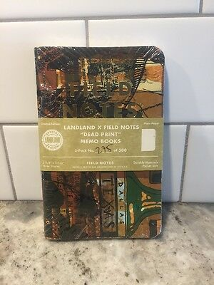 Field Notes LandLand Dead Print Edition #275 of 500 Notebook 3-Pack