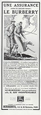 Publicite  Burberrys Le Burberry Impermeable  Levrier Mode Fashion  Ad  1934 -8G