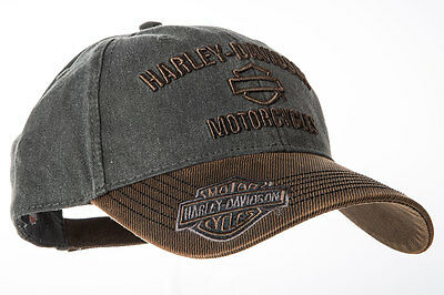 "Harley-Davidson ""BROWN + GREY DEALER"" Cap, Mütze, Hut, Basecap  *BCC51639*"