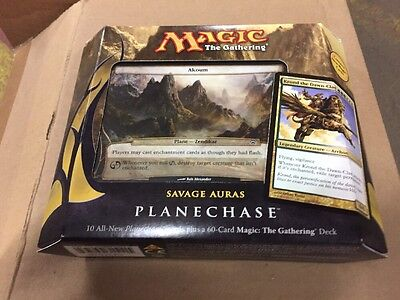 Magic The Gathering 2012 Planechase Savage Auras Theme Deck, Sealed MTG ENGLISH