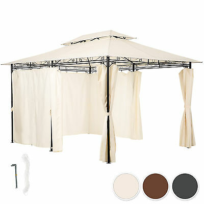 Luxury gazebo for garden party camping tent sun shade shelter + sides 3x4 m