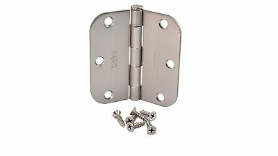 "(Pack of 50) Kesler 3 1/2 Inch Satin Nickel Door Hinges (5/8"" Radius Corners)"