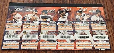 2017 Astros Full Un Used Season Ticket YOU PICK Game Altuve Bregman World Series