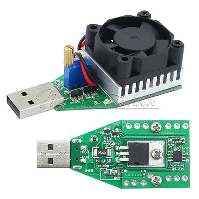 15W Electronic Load Resistor USB Discharge Battery Tester with Fan  3.7-13V