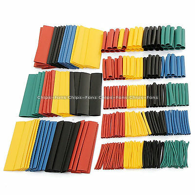 328pcs Car Electrical Cable Heat Shrink Tube Tubing Wrap Sleeve Assorted 5 Color