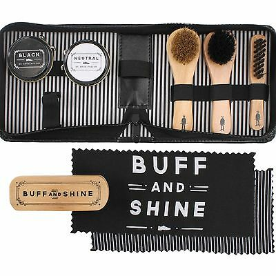 Dapper Chap 8 Piece Shoe Shine Kit