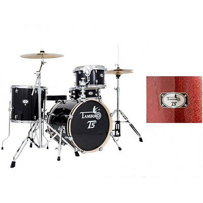 Tamburo T5 J18RSSK Red Sparkle batteria Jazz completa
