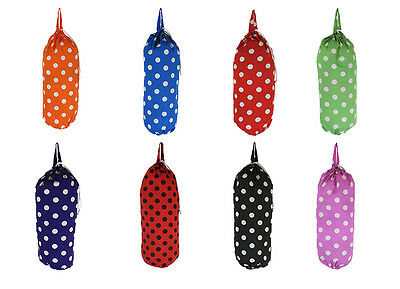 Polka Dot Carrier Bag Tidy Plastic Bag Storage Choose From 8 Colours