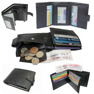 Mens Wallet Original Leather Money Flip Case ID Pocket Credit Card Holder Travel