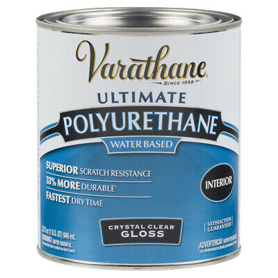 Varathane Int. Elite Diamond Finish Water-BasedGloss Crystal Clear TP 1 Qt-PK 2