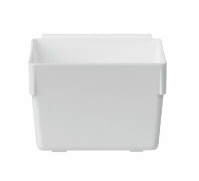 "Rubbermaid Drawer Organizer 3"" X 3"" White Plastic Case of 12"