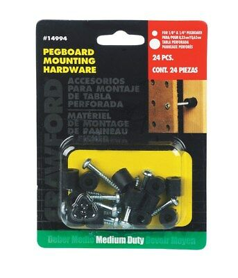 Crawford 14994 Pegboard Mounting Kit 12 Count
