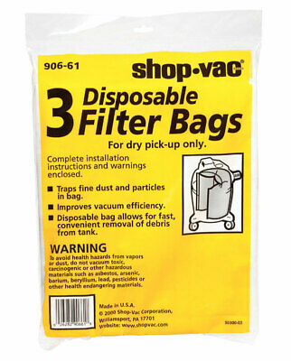 Shop Vac Disposable Collection Bag - Side Pack 1