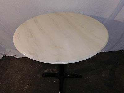 """Restaurant Table Top White Onyx/Marble 36"""" Round  Inside & Outside W/ Base"""