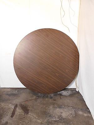 """60"""" Round Wood Folding Banquet Table"""