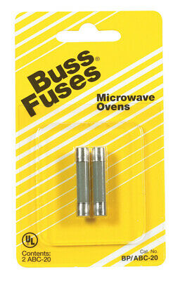 """Bussmann Fuse Fast Acting, Microwave Oven 20 Amp 250 V 1/4 """" X 1-1/4 """" Cd 2"""