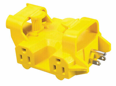 Yellow Jacket Outdoor Adapter 15 Amp 125 V 1875 W Yellow 5 Outlet Bulk Pack 1