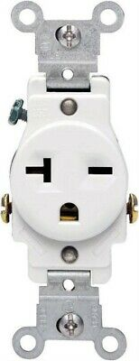 Leviton  20 amps 250 volt White  Outlet  6-20R  1 pk
