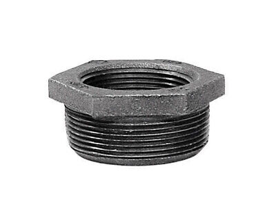 """B & K Hex Bushing Galvanized 1/2 """" Mip X 1/4 """" Fip Malleable Iron Pack of 5"""
