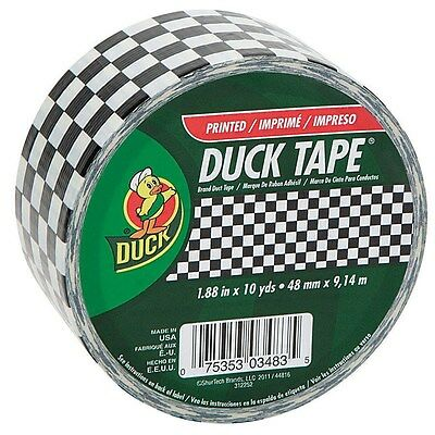 Duck Duct Tape High Performance 10 Yd. Black Checker