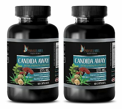 Black walnut powder - CANDIDA AWAY COMPLEX 1275 mg - antioxidant extract - 2 Bot