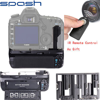 For Canon EOS 7D Battery Grip Replace BG-E7 DSLR Camera+RC-6 Remote Control