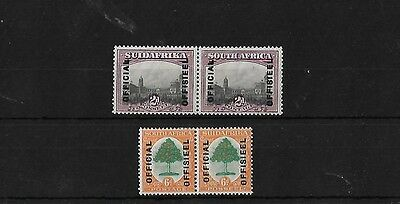 South Africa 1928-30 Official Pair, Mounted Mint, Sg05/6, Cat £30