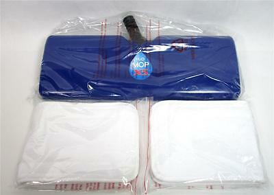 H2O X5 Steamer Clean Mop Head 2 Extra Large Microfiber Pads Accessory Blue B-12