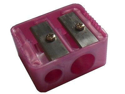 Body Collection Pink Double Make-Up Pencil Sharpener - Pencil Sharpener