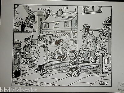 "CLIFFORD C LEWIS ""CLEW"" Original Pen & Ink Cartoon - Fathers and Sons #382"