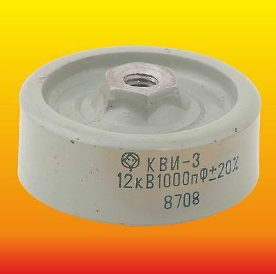 1000 pF 1 nF 12 kV LOT OF 2 DOORKNOB HIGH VOLTAGE CERAMIC CAPACITORS KVI-3