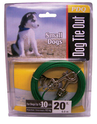 Pdq Puppy Tie Out Cable For Dogs Up To 10 Lbs. 20 Ft. Vinyl