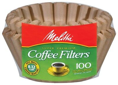 Melitta 629092 8 To 12 Cup Natural Brown Basket Coffee Filters 100 Count