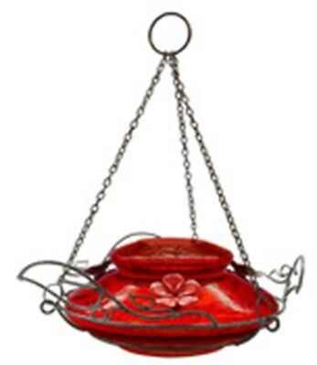 Nature's Way MHF4 18 Oz Top Fill Red Crackle Hummingbird Feeder