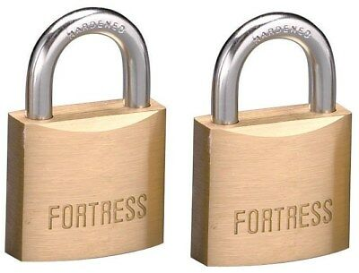 "Fortress 1830T 1-3/16"" #1830 Solid Brass Padlocks 2 Count"