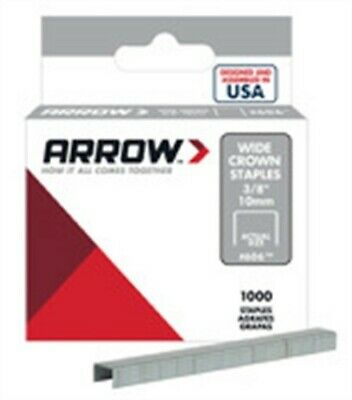 "Arrow Fastener 60630 3/8"" Wide Crown Heavy Duty Staples"