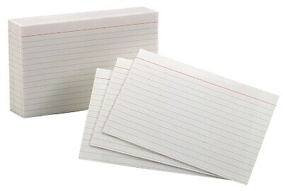 "Oxford 40165 100 Count 5"" x 8"" Ruled Index Cards"