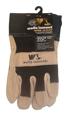 Wells Lamont Leather Palm Gloves Leather Large Black