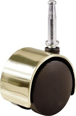 "Shepherd 9726 2"" Bright Brass Twin Wheel Caster"
