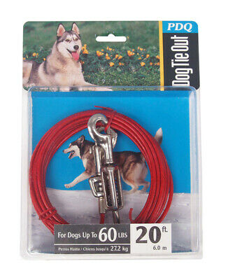 Pdq Dog Tie Out With Spring 20 Ft.
