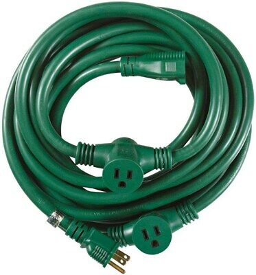 Coleman Cable 03030 25' 14/3 Multiple Outlet Extension Cord