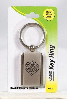 Hy-Ko Key Ring Locket Chrome Finish Carded